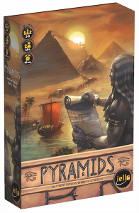 box of the Egyptian themed board game Pyramids