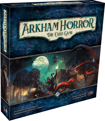 box of arkham horror the card game, one of the 6 best horror board games