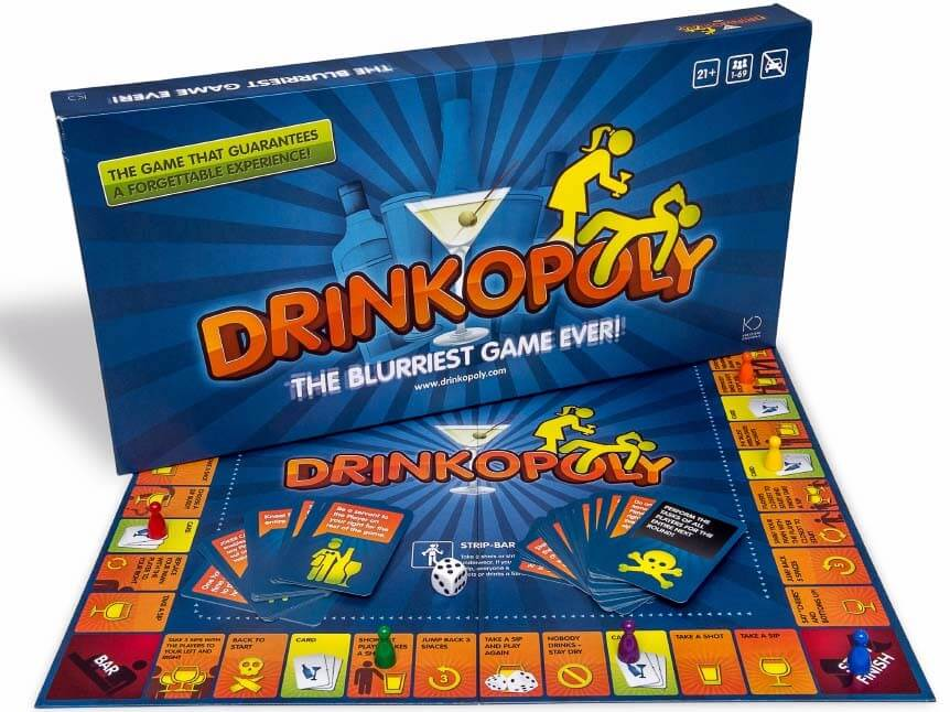 box and board of drinkopoly one of drinking board games for adults