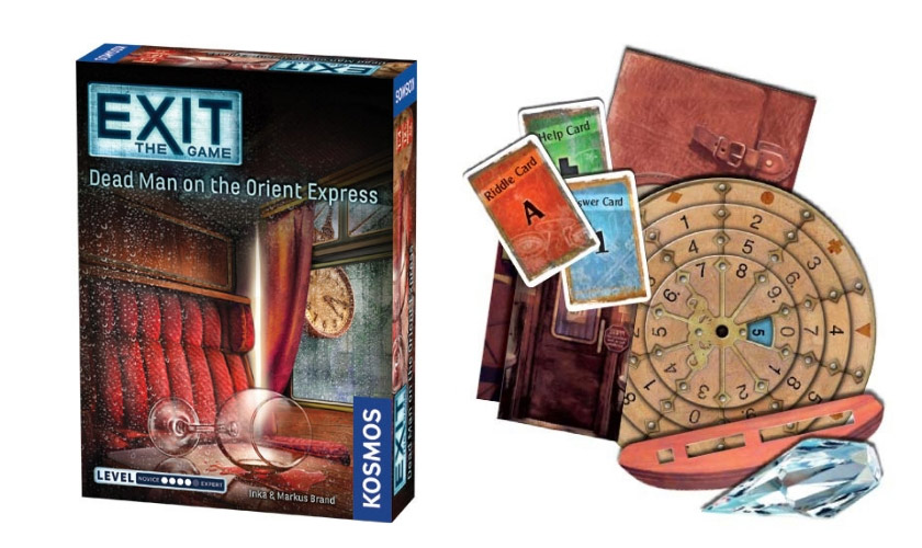 the box and the board of game exit: the game dead man of the Orient Express