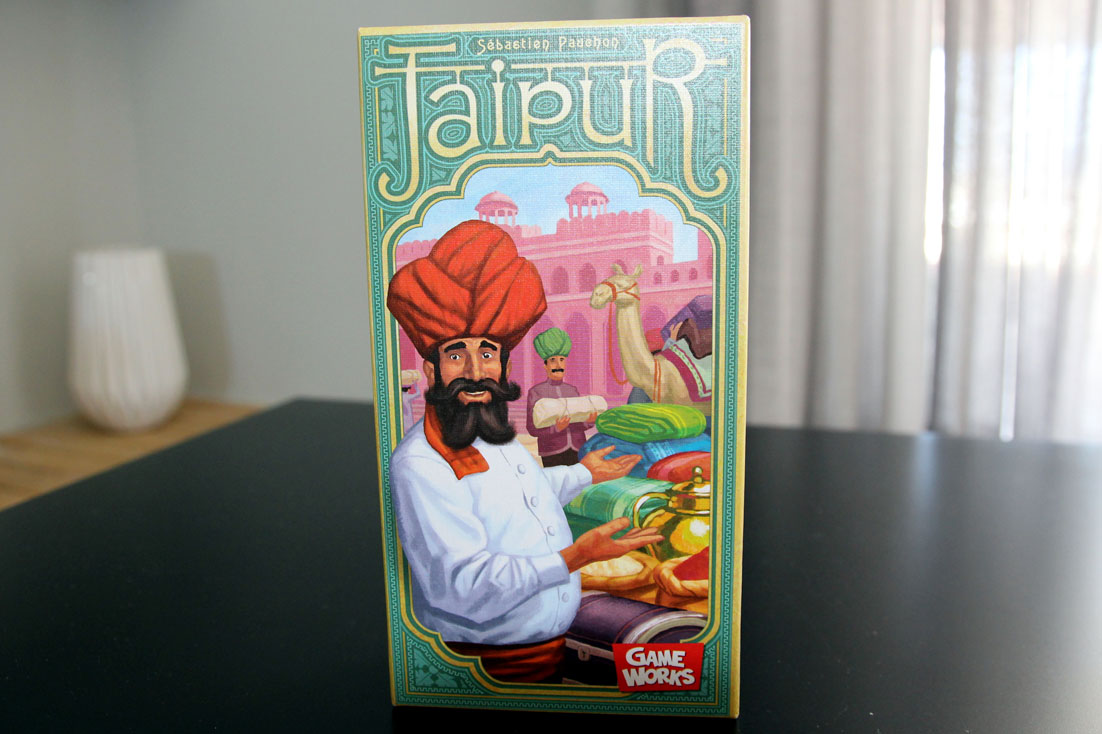 the front of the box of Jaipur card game