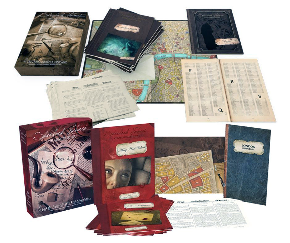 components of detective board games