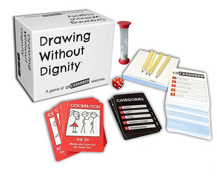 drawing board games for adults drawing without dignity box