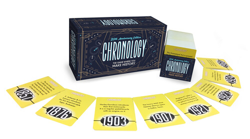 chronology board game box 5 trivia board games