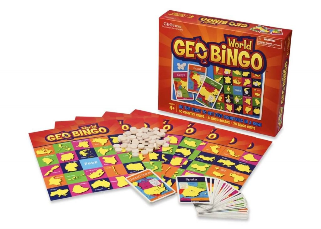 geography board games geobingo box and board