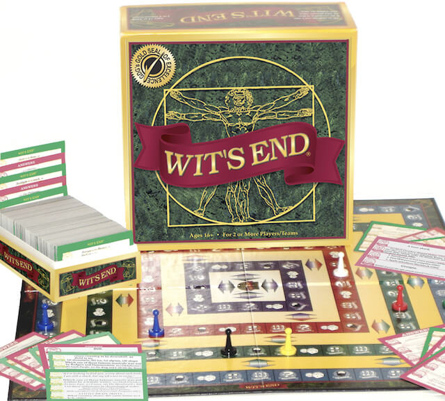 wit's end board game box 5 trivia board games